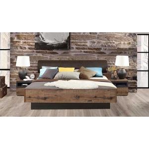 FORTE Bett Jacky, mit Polsterkopfteil, wahlweise mit oder ohne Bettbank 220 cm x 212 cm x 42 cm