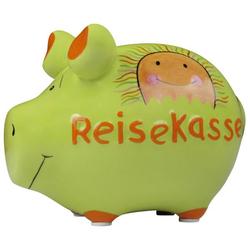 KCG 101484   Keramik Spardose Schwein Reisekasse