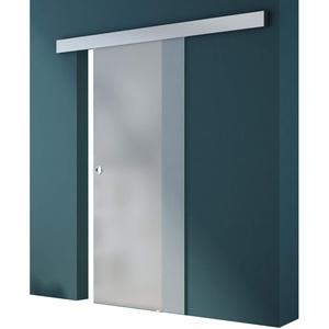 Glasschiebetür Amalfi TS12-1025 vollflächig Satiniert, Griffart: Muschelgriff, BxH: 102,5x205cm