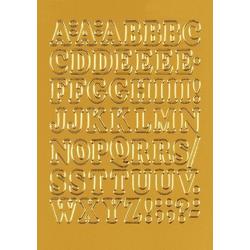 HERMA 4183 Buchstaben 12 mm A-Z Folie gold 10 Bl.