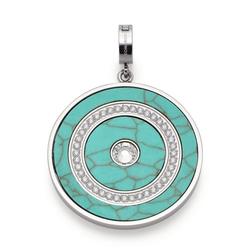 LEONARDO Charm-Einhänger Lulani Clip&Mix, 019753, mit Türkis (synth) und Kristallglas