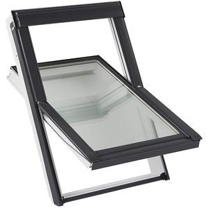 """Velux Sparpaket""""Sunshine"""" - Dachfenster+Eindeckrahmen+Hitzeschutzmarkise (78 x 98 MK04, EDZ 0000 - für Ziegel bis 4,5cm)"""