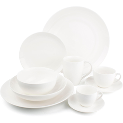 nurso Tasse Lara, (Set, 12 tlg., 6 Kaffeetassen-6 Untertassen), Tassen, Untertassen weiß Becher Tassen Geschirr, Porzellan Tischaccessoires Haushaltswaren