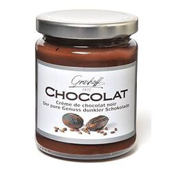Crème aus dunkler Schokolade. 250g. Grashoff. 6 Stk.
