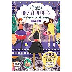 Meine Anziehpuppen - stickern & träumen: Topmodel - Buch