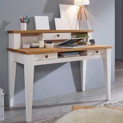 Massivholz Schreibtisch im Landhausstil 120 cm breit
