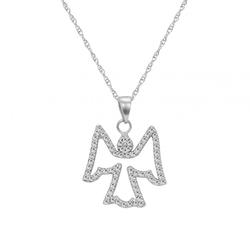 Goldkette mit Diamanten Engel-Anhänger Jayon