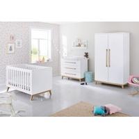 Pinolino Kinderzimmer Riva breit 3-tlg. weiß