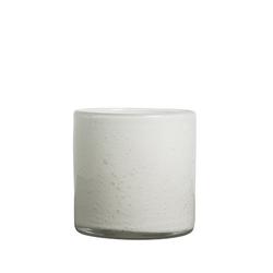 By On Calore Vase / Windlicht Weiß h: 15 cm