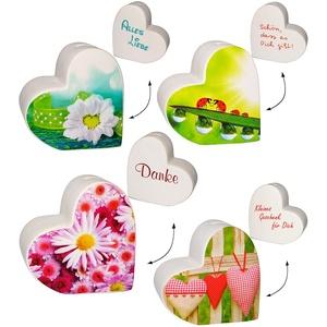 alles-meine.de GmbH 1 Stück _ große Spardose - Herz -  mit Aufschrift  - stabiles Sparschwein - aus Porzellan / Keramik - lustig witzig - Sparbüchse - Freunde / Freundschaft - ..
