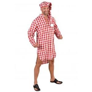 Nacht Hemd Schlaf Schlafhemd Pyjama Kostüm Nachthemd Schlafwandler Schlafmütze