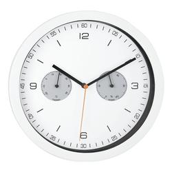 Quarz-Wanduhr mit Hygro- und Thermometer 16101 Ø 26,5 cm, Mebus
