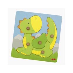 goki Konturenpuzzle Puzzle Drache, 5 Puzzleteile