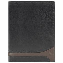 Mika Accessoires Portemonnee VI leer 10 cm black