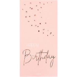 "Servietten ""Happy Birthday"" in Rosé"