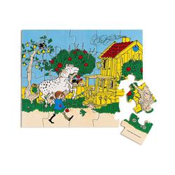 Micki Puzzle Pippi Langstrumpf Holzpuzzle, 20 Teile, Puzzleteile