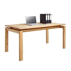 Computer Schreibtisch aus Kernbuche massiv 160 cm