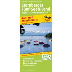 Rad- und Wanderkarte Starnberger Fünf-Seen-Land 1 : 50 000