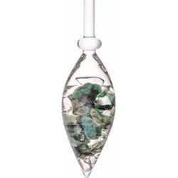 VitaJuwel Mineralstein Edelsteinphiole Vitality, Smaragd - Bergkristall