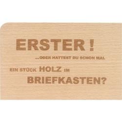 Holzpost Postkarte Set 4-tlg. 14x9 cm - 4 x
