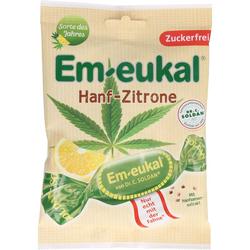 EM EUKAL Bonbons Hanf-Zitrone zuckerfrei 75 g