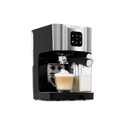 Klarstein Filterkaffeemaschine BellaVita Kaffeemaschine, 1450 W, 20 Bar, Milchschäumer, 3in1, grau, 0l Kaffeekanne grau