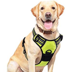 Hundegeschirr für Große Hunde Anti Zug Weich Gepolstert Atmungsaktiv Hundegeschirr Verstellbar Geschirr Hunde Brustgeschirr Ausbruchsicher Atmungsaktiv Hundegeschirr für Mittlegroße Große Hunde M L XL