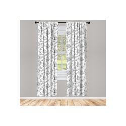Gardine Vorhang für Wohnzimmer Schlafzimmer Dekor, Abakuhaus, Hochzeit Blumen-Blumenstrauß-Kuchen 150 cm x 245 cm