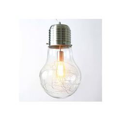 Licht-Erlebnisse Pendelleuchte FUTURA 003 Hängeleuchte Edelstahl Glühbirnenform modern Pendelleuchte Lampe