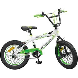 Fahrrad BMX 16 Zoll Fat Bike grün/weiß