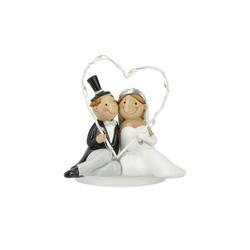 Basispreis* LED Hochzeitspaar ¦ weiß ¦ Polyresin (Kunstharz) ¦ Maße (cm): B: 12 H: 12 T: 6,5