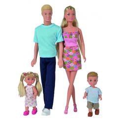 Simba Puppen Set Steffi Love Familie Xl