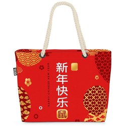 VOID Strandtasche (1-tlg), Chinese New Year Beach Bag China Chinesen Chinese New Year Silvester Feier Rot
