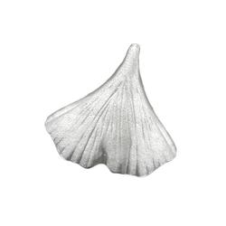 Gallay Kettenanhänger Anhänger Ginkgoblatt 9mm matt Silber 925 (inkl. Schmuckbox), Silberschmuck für Damen