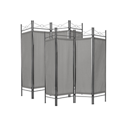 tectake Paravent 2 Raumteiler grau