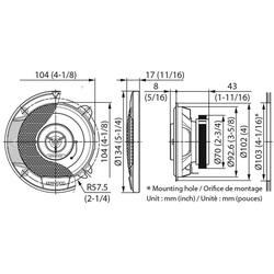 Kenwood Multiroom-Lautsprecher (Kenwood KFC-S1066 - 10cm 2-Wege Koax Lautsprecher)