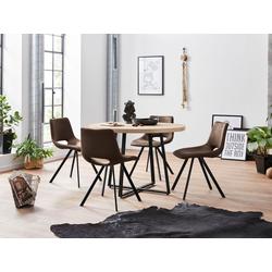 Essgruppe, mit 4 Stühle natur
