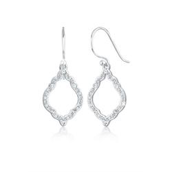 Elli Paar Ohrhänger Hänger Ornament Kristalle 925 Silber silberfarben