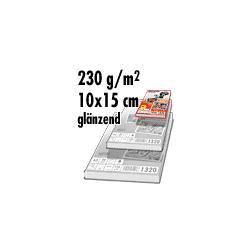 Glänzendes Fotopapier (Fotokarten) 50 Blatt  10 x 15 cm / 150 gr. / 9.600 dpi / 1303