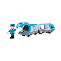 BRIO® Spielzeug-Eisenbahn Blauer Reisezug (Batteriebetrieb)