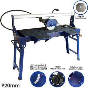 Fliesenschneider Fliesenschneidmaschine Nass 920 mm 1200W Diamant Fliesensäge