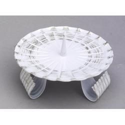 Kerzenleuchter aus Eisen mit Dorn in Weiß/Gold Ø 12 cm, Ideal für Taufkerzen, Kommunionkerzen