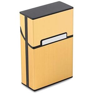 CamKpell Tragbare Zigaretten schlanke Aluminium Zigarettenetui Zigarre Tabak Inhaber Box Vorratsbehälter Rauchen Zubehör - Luxus golden