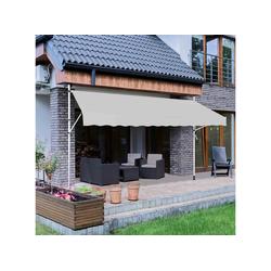 Strattore Standmarkise Klemmmarkise / Balkonmarkise Sonnenschutz 350 x 120 cm - Grau