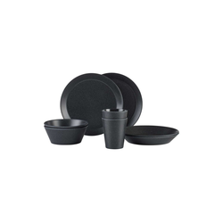 Mepal Geschirr-Set BLOOM Geschirr Set Pebble Black 8-teilig (8-tlg), Melamin