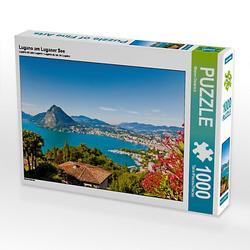 Lugano am Luganer See Lege-Größe 64 x 48 cm Foto-Puzzle Bild von Werner Dieterich Puzzle