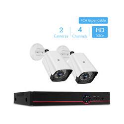 4-Kanal-Hd-Analog-Festplatten-Videorecorder + 2 Stuck 1080P-Analogkamera-Set, Maximale
