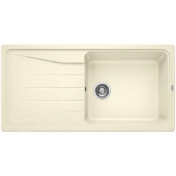 Blanco Sona Xl 6 S Silgranit Puradur Ii Single Bowl Reversible Drainer Cream Kitchen Sink