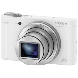 Sony Cyber-Shot DSC-WX500 Superzoom-Kamera (18,2 MP, 30x opt. Zoom, WLAN (Wi-Fi), NFC, 30 fach optischer Zoom) weiß