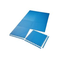 tectake Bodenschutzmatte Bodenschutzmatte 8-tlg. blau
